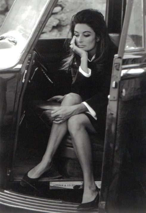 Anouk Aimee on the set of Justine, 1968. Photo: Eve Arnold.