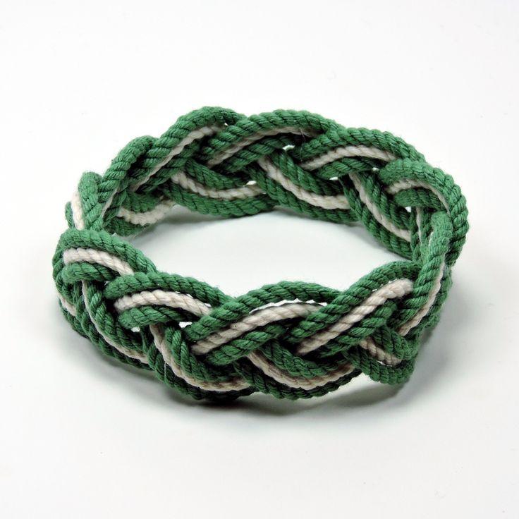 Sailor Bracelet Tropical Colors with White Cotton Stripe