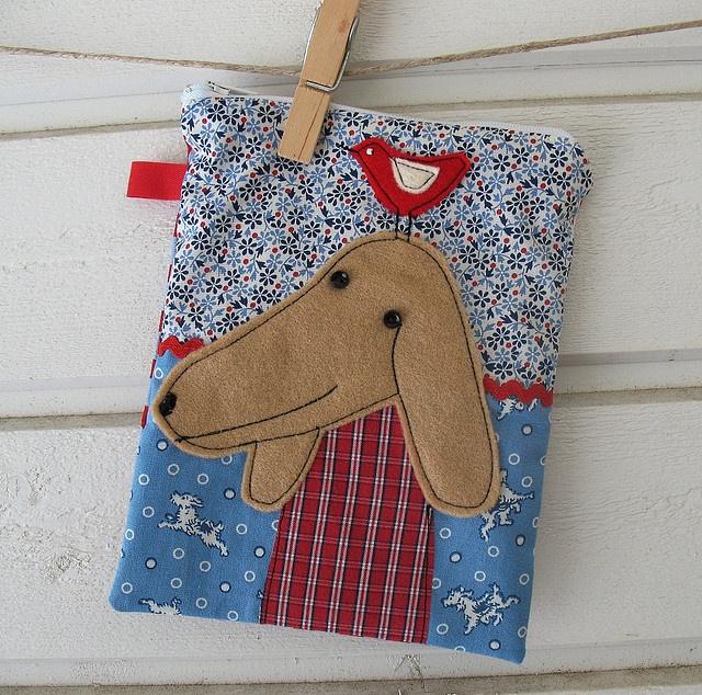 Dog pouch by syko Kajsa, via Flickr