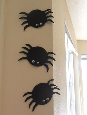 Cute template for ghosts and spiders