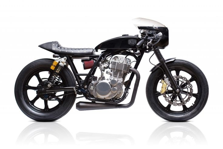Outside Japan, Deus Ex Machina is probably the greatest exponent of the custom Yamaha SR400. 'Grevious Angel' is one of Deus' signature builds, with looks that have scored it a place in Sydney's Powerhouse museum. This SR400 is sporting a tweaked frame, an alloy bullet-style fairing, beadblasted engine cases, a CV carb and a K&N intake kit. The tank and ducktail seat unit are from the legendary Japanese brand Nitroheads. Fans of Top Gear take note: James May has one of these in his garage.