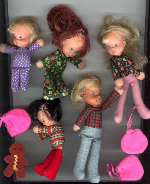 Honey Hill Bunch dolls - I had so much fun with these
