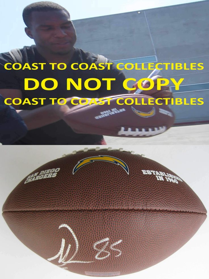 Antonio Gates, San Diego Chargers, Signed, Autographed, Logo Football, a COA with the Proof Photo of Antonio Signing Will Be Included