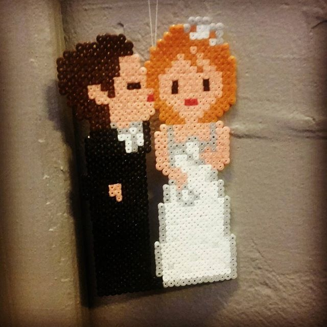 Couple - Wedding perler beads by mettemoster