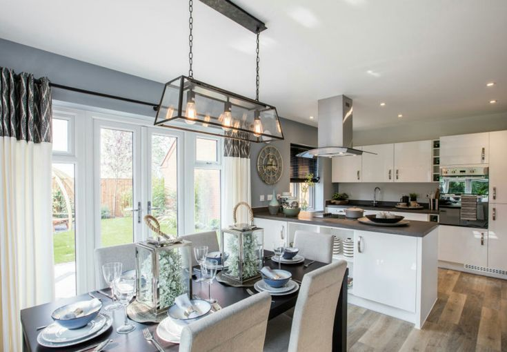 Interior Designed Showhome. Modern open plan kitchen living dining room by Bloor Homes 2017