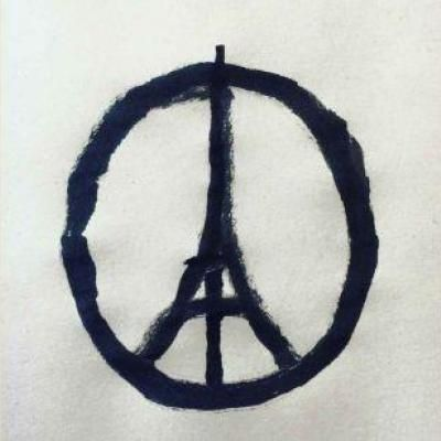 """Peace for Paris"" de Jean Jullien."