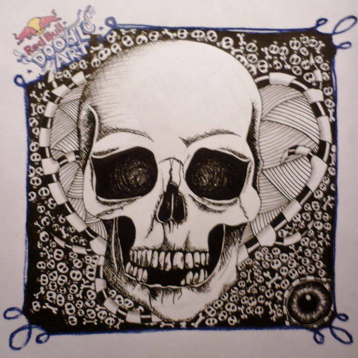 Red Bull Doodle Art Sandra Stoitsi