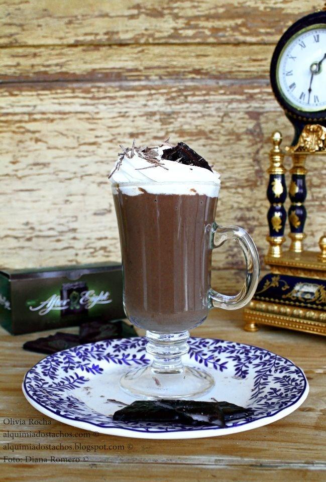 Chocolate quente com menta