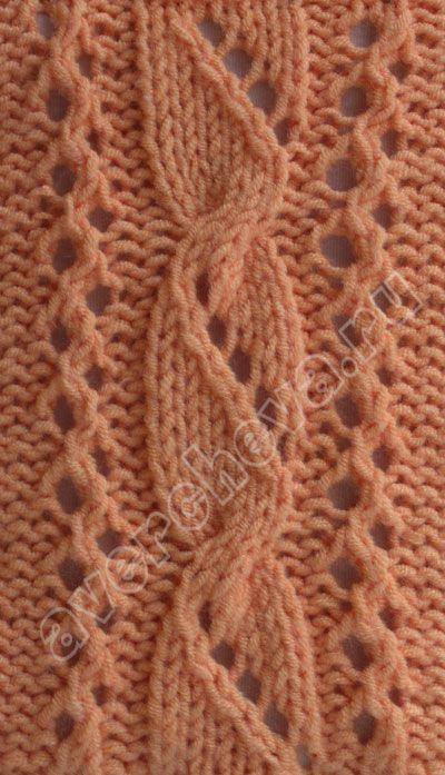 ажурные косы | каталог вязаных спицами узоров