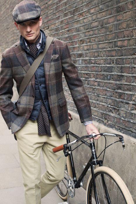 .: Fashion Men, Men Clothing, Polka Dots, Bike, Menfashion, Plaid Blazers, Men Style, Men Fashion, Plaid Jackets