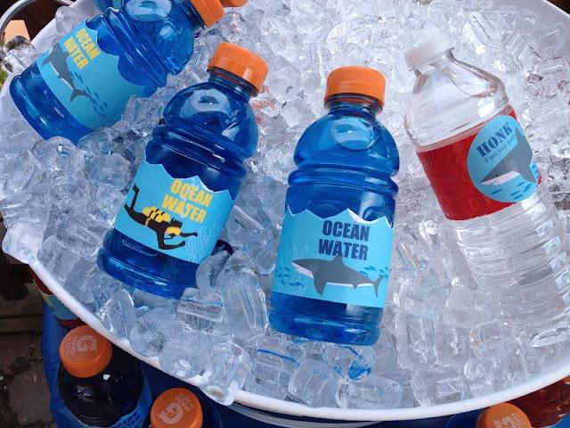 Shark Birthday Party beverage