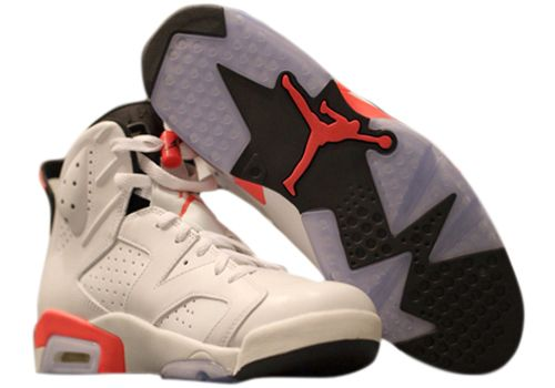 $129.97 384664-123 Men's Nike Air Jordan 6 Retro Infrared-White-Black