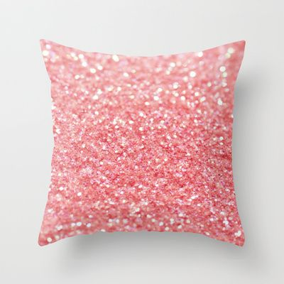 coral pink throw pillow by ingz 2000 - Pink Decorative Pillows
