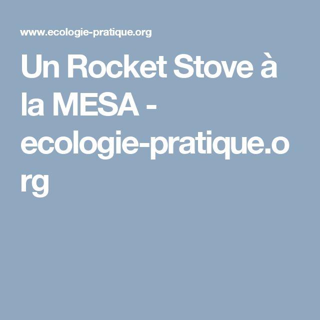 Un Rocket Stove à la MESA - ecologie-pratique.org