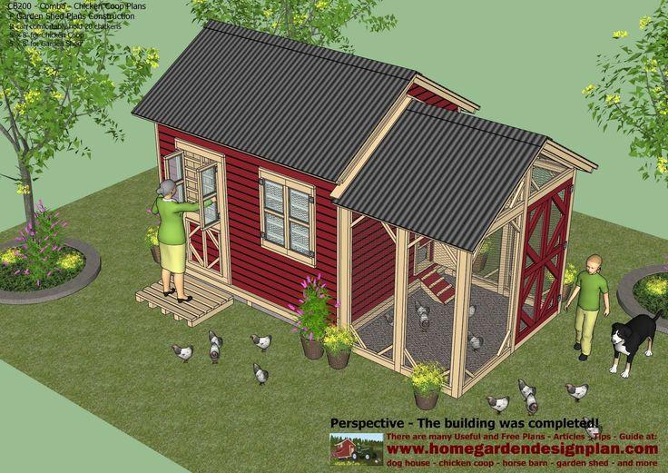 Greenhouse Chicken Coop Garden Shed Combination