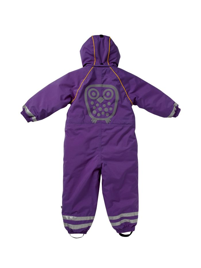 Big owl Winter suit from behind