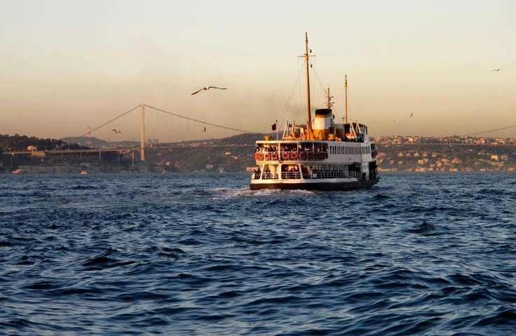 Typical boat on Bosphorus, Istanbul Turkey #travel