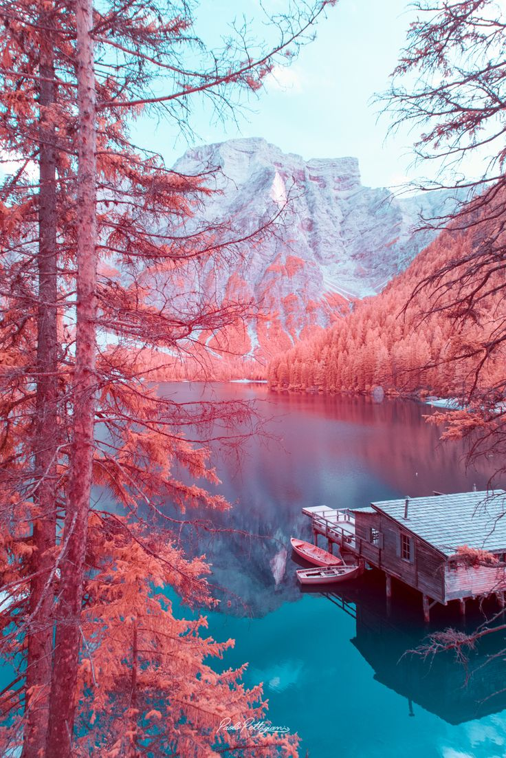 A New Infrared View of the Dolomites by Paolo Pettigiani Shows Craggy Landscapes in Cotton Candy Colors