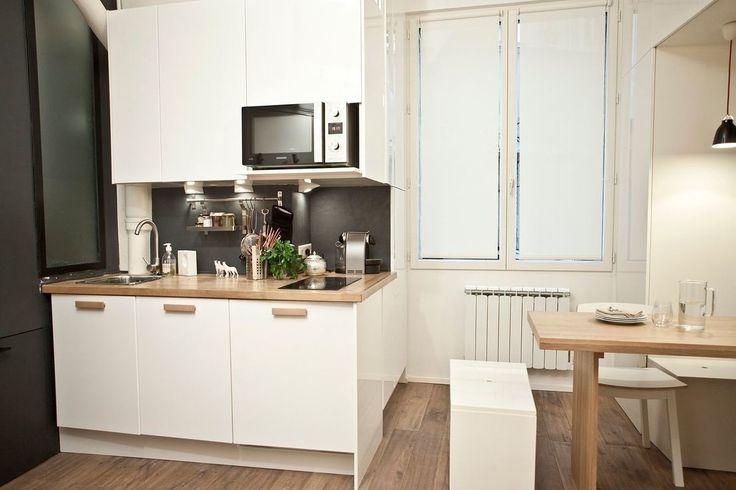 Miniature studio duhesme 17m2 paris géraldine laferté architecte d intérieur décoration petits espaces pinterest concierge studio apartment and