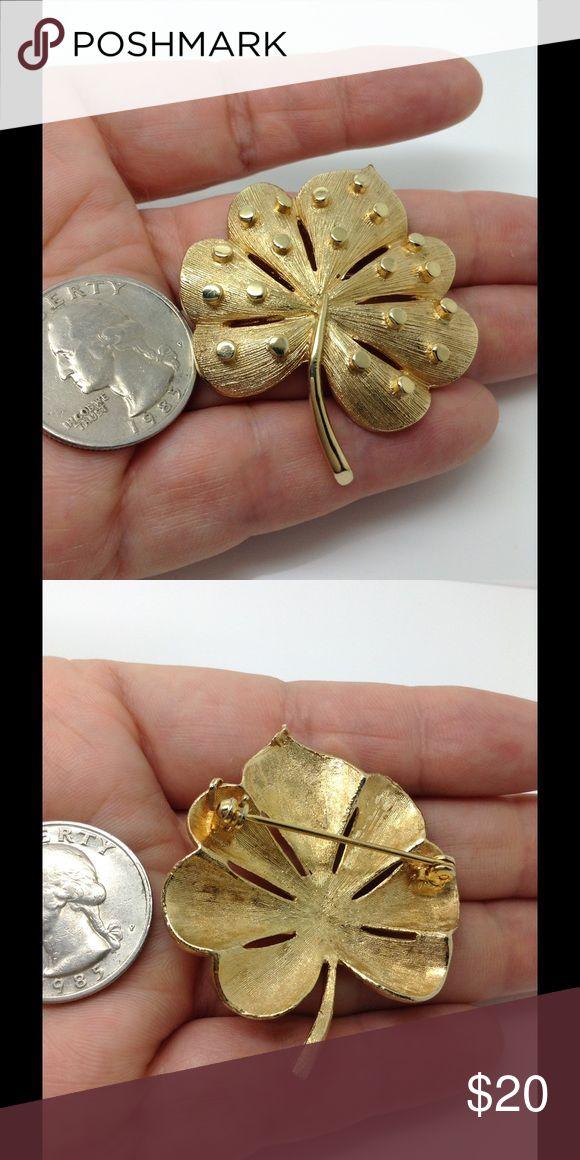 "Gold tone 2"" X 2"" maple leaf fashion brooch Fashion brooch. Final markdown Jewelry Brooches"