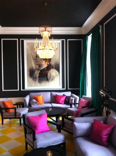 Lounge på Hesselby Slott med tema musik