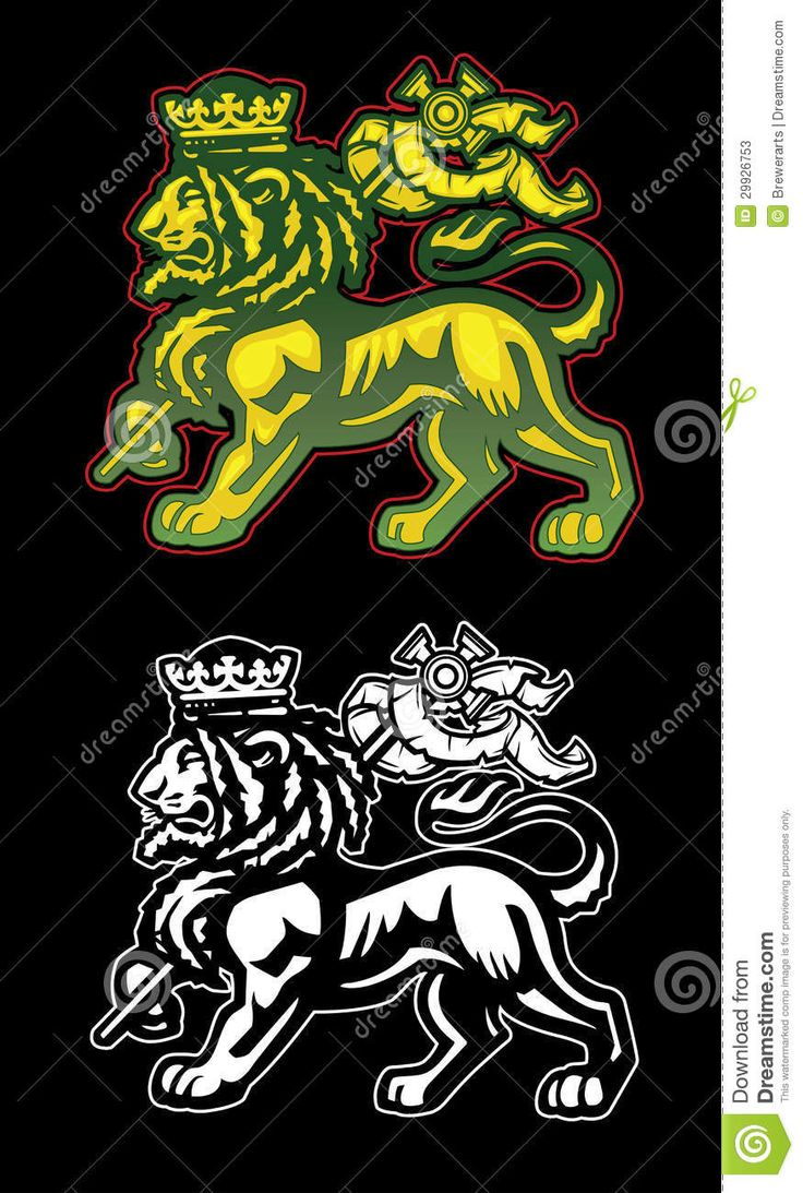 45 best rasta tiger tattoos images on pinterest rasta lion rastafarian illustration of the lion of judah with dreadlocks and biocorpaavc Image collections