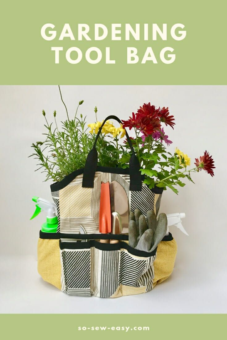 The Gardening Tool Bag – Great Project For Father's Day – Totes, Purses and Snap Bags