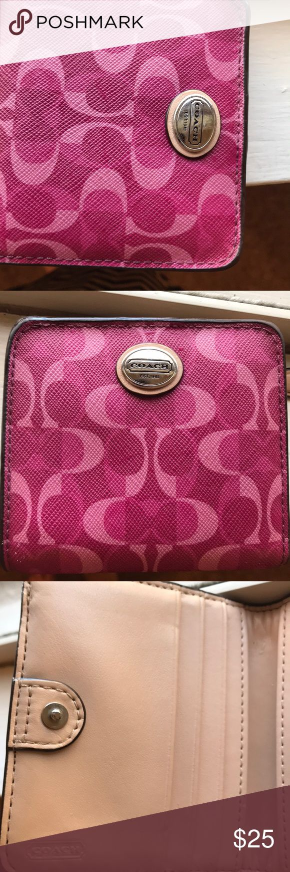 Coach wallet Pink coach wallet never used Coach Bags Wallets