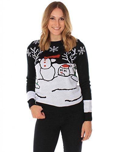 Hasslicher Kopfloser Schneemann Damen-Weihnachtspullover von Tipsy Elves, http://www.amazon.de/dp/B00KSFCWNK/ref=cm_sw_r_pi_awdl_xs_1bJyzb0HBTAGB