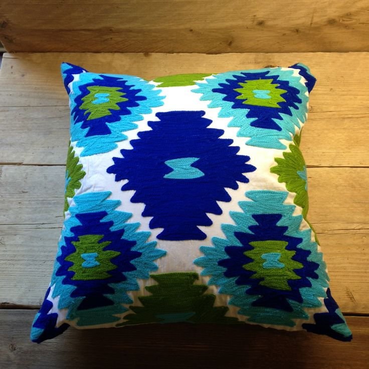 Blue Patterned Cushions Fair Trade | Little Trove