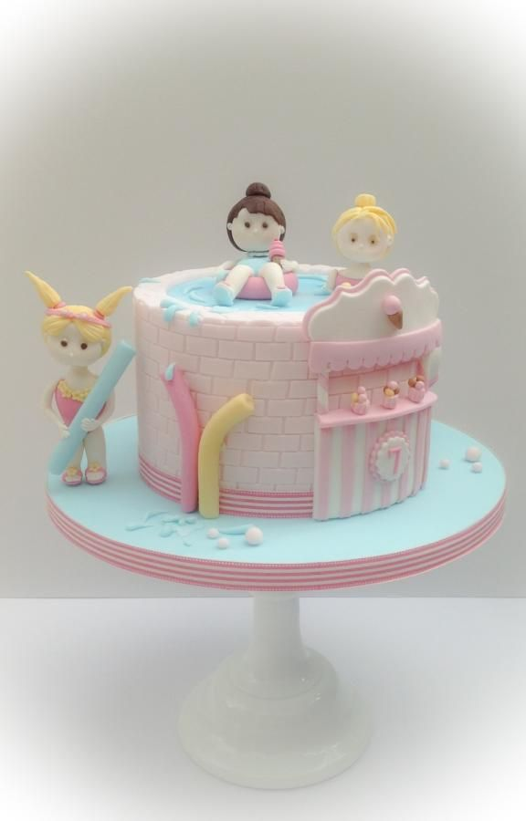 All Her Mum Asked For Was A Water/swim Pool Party Cake.