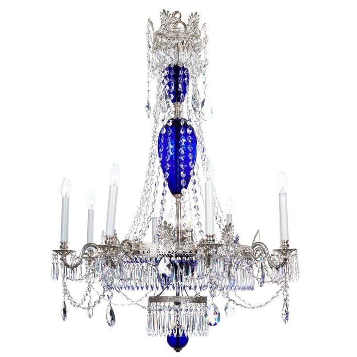 Baltic Silvered And Glass Cobalt Blue Chandelier Blue Chandelier