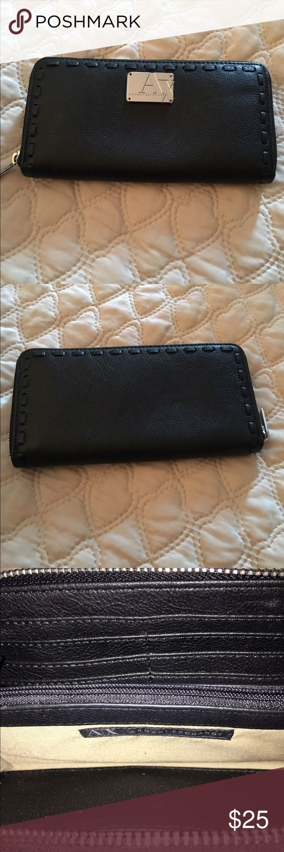 🎉Final Price🎉 Armani Exchange Wallet Like brand new Armani Exchange leather wallet.. Armani Exchange Bags Wallets