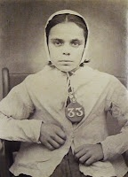 1870's - Selina Jenkins, age twelve, who served fourteen days hard labor in a Welsh prison for stealing a cloth jacket.
