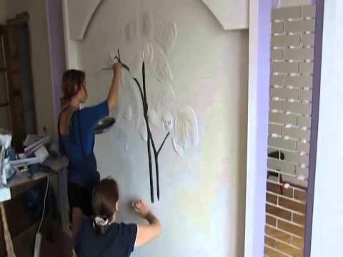 Роспись по стене - орхидея