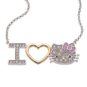 HELLO KITTY I Love Hello Kitty Jewelry necklace on 18 inch chain by Simmons Jewelry