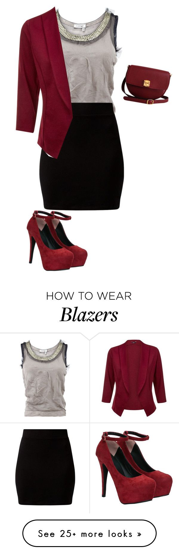 """""""Untitled #1045"""" by sylviabunny on Polyvore featuring Lanvin, The Code, women's clothing, women's fashion, women, female, woman, misses and juniors"""