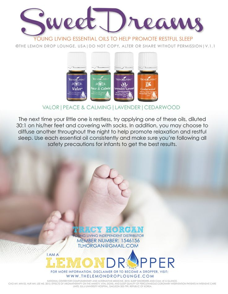 Sleep Young Living Essential Oils Baby Valor Peace