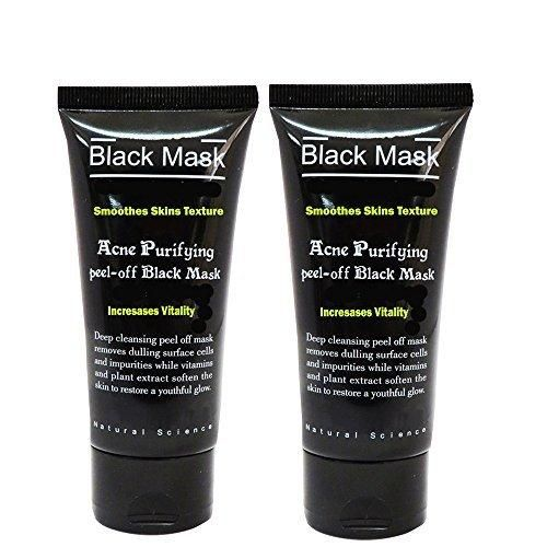 Blackhead Remover Purifying Deep Cleansing Acne Peel off Face Mask Black MudPack of 2 of 50 ml Pack of 2