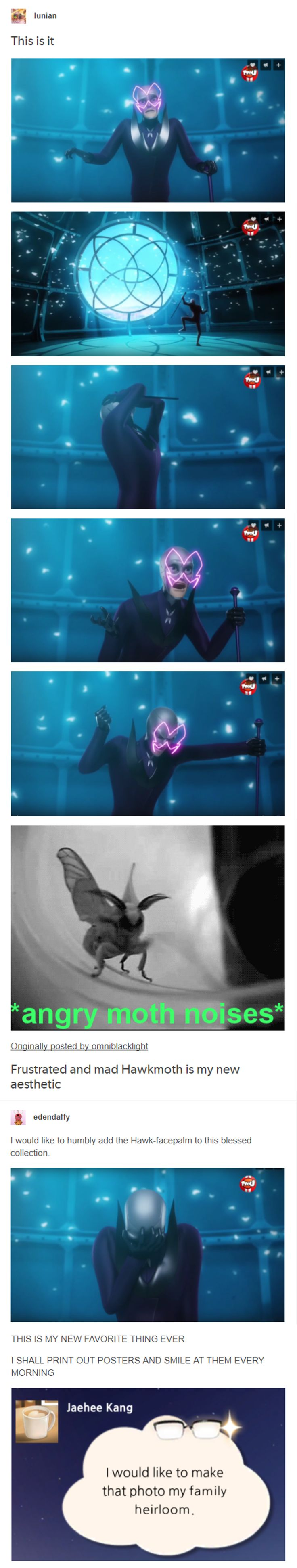 I love how personable they made Hawkmoth now that we know who he is.