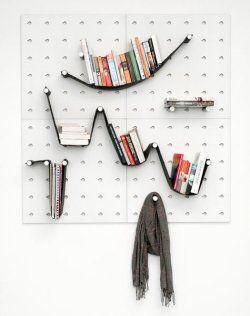 No siempre se necesitan muebles para organizar tus objetos personales.
