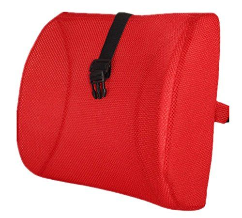 Fashion Red High Resilient Memory Foam Seat Back Lumbar Cushion Support Pillow Car Office Chair Back Support
