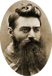 "Edward ""Ned"" Kelly, 6/11/1855 - 11/11/1880, considered to be merely a cold-blooded cop killer, others consider him to be a folk hero and symbol of Irish Australian resistance against the Anglo-Australian ruling class. After an incident at his home, police searched for him in the bush. After killing 3 policemen, the colony proclaimed Kelly a wanted outlaws. Kelly was captured on 6/28/1880, convicted of murder and hanged. This picture was taken the day before his execution."