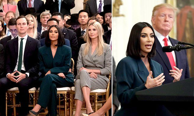 Kim Kardashian Back At White House To Talk Criminal Justice With