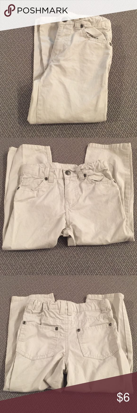 Boys Kaki Pants Boys tan kaki pants with an adjustable waist. Gently used in great condition KIDS R US  Bottoms Jeans
