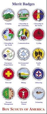Crafts & Projects :: Scrapbooking :: Stickers :: Boy Scout Required Merit Badges Sticker Sheet - Boy Scout Store - Boy Scout Collectibles & Memorabilia & Gifts