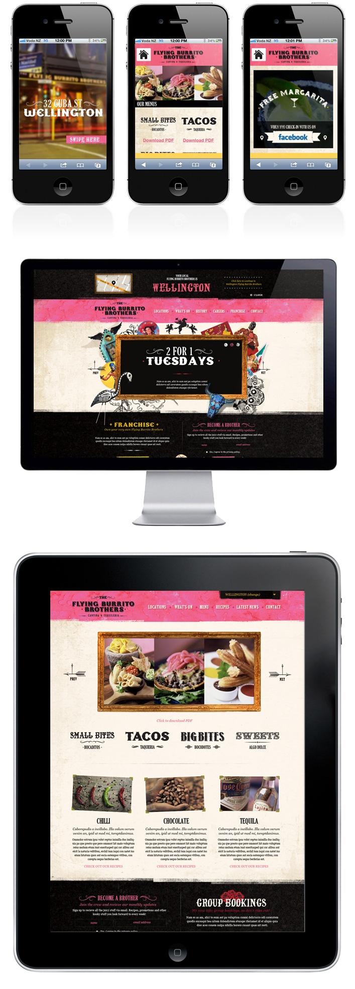Flying Burrito Brothers, Webdesign, Responsive Webdesign