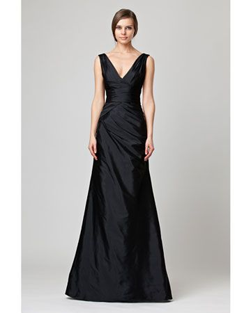 Really love this dress because of the shape and lines.  Deep V for a wedding?!