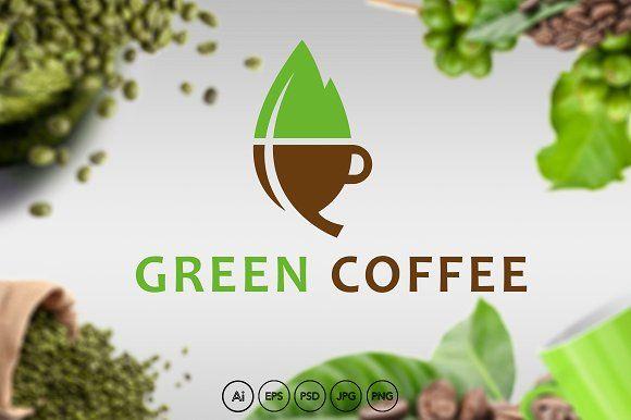 Green Coffee Logo by HubaStudio on @creativemarket