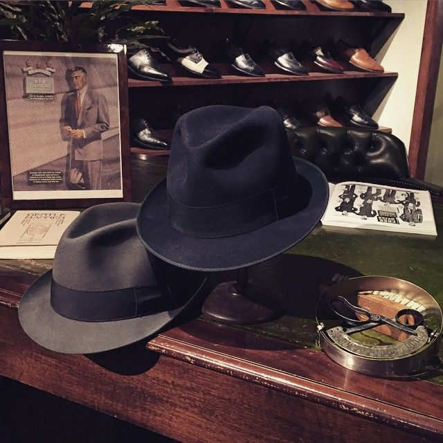 These two late 50's Borsalino hats are in perfect condition. Nothing special so far, but here's the thing; They are both size 63. You don't see hats from this period in this size very often. In fact they had to be specially ordered when they were once bought at the Paul U Bergström department store here in Stockholm. #vintage #vintagehats #borsalino #menshats #mensvintage